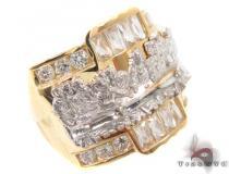 CZ 10K Gold Last Supper Ring 33254 メンズ ゴールド リング