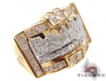 CZ 10K Gold Last Supper Ring 33255 メンズ ゴールド リング