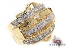 CZ 10K Gold Last Supper Ring 33256 メンズ ゴールド リング