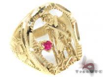 CZ 10K Gold Ring 33260 メンズ ゴールド リング