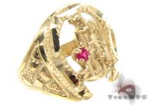 CZ 10K Gold Ring 33261 メンズ ゴールド リング