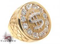 CZ 10K Gold Ring 33267 Mens Gold Rings
