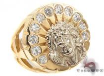 CZ 10K Gold Ring 33268 メンズ ゴールド リング