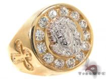CZ 10K Gold Ring 33269 メンズ ゴールド リング
