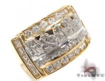 CZ 10K Gold Last Supper Ring 33271 メンズ ゴールド リング