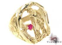 CZ 10K Gold Ring 33275 メンズ ゴールド リング