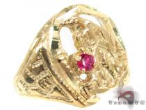 CZ 10K Gold Ring 33277 Mens Gold Rings