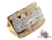 CZ 10K Gold Last Supper Ring 33282 メンズ ゴールド リング