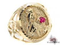 CZ 10K Yellow Gold Ring 33284 Mens Gold Rings