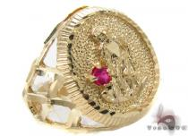 CZ 10K Yellow Gold Ring 33285 Mens Gold Rings
