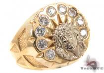CZ 10K Yellow Gold Ring 33291 メンズ ゴールド リング