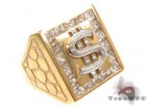 CZ 10K Yellow Gold Ring 33292 メンズ ゴールド リング