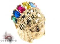 CZ 10K Yellow Gold Ring 33293 Mens Gold Rings