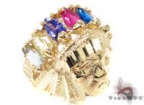 CZ 10K Yellow Gold Ring 33295 Mens Gold Rings
