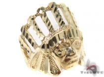CZ 10K Yellow Gold Ring 33296 Metal