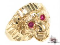 CZ 10K Yellow Tiger Gold Ring 33298 Mens Gold Rings