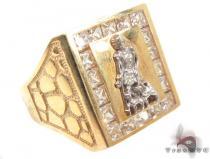 CZ 10K Yellow Gold Ring 33299 メンズ ゴールド リング
