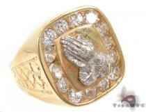 CZ 10K Yellow Gold Ring 33300 Mens Gold Rings