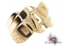 10K Yellow Gold Dad Ring 33301 メンズ ゴールド リング
