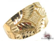 10K Yellow Gold Ring 33302 Mens Gold Rings