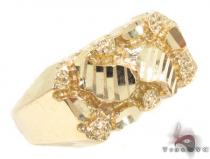 10K Yellow Gold Ring 33303 Mens Gold Rings