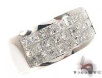 3 Row Invisible Diamond Ring Mens Diamond Rings