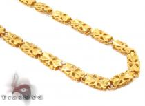 24K Yellow Gold Necklace and Bracelet Set Gold Necklaces
