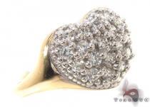 CZ 10k Gold Heart Ring 33359 ゴールド レディース リング