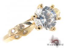 CZ 10k Gold Ring 33363 ゴールド レディース リング