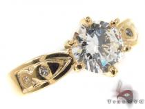 CZ 10k Gold Ring 33368 ゴールド レディース リング