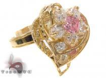 CZ 10k Gold Heart Ring 33382 ゴールド レディース リング