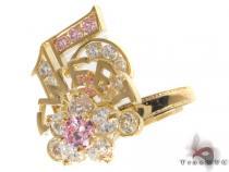 CZ 10k Gold Ring 33388 ゴールド レディース リング