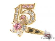 CZ 10k Gold Ring 33389 ゴールド レディース リング