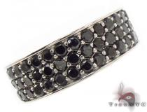 3 Row Black Diamond Ring 2 メンズ ブラックダイヤモンド リング