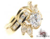 CZ 10k Gold Ring 33438 ゴールド レディース リング