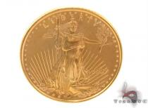 1997 $5 Dollar 1/10 OZ Fine Gold American Eagle Coin ゴールド ペンダント