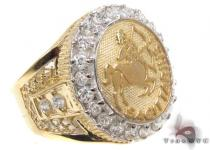Mens Leo CZ 10kt Gold Ring Mens Gold Rings