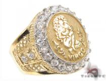Mens Virgo CZ 10kt Gold Ring Mens Gold Rings