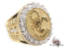Mens Scorpio CZ 10kt Gold Ring Mens Gold Rings