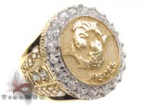 Mens Pisces CZ 10kt Gold Ring Mens Gold Rings