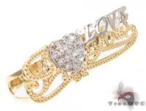 CZ 10k Gold Ring 33491 Gold Ladies Rings