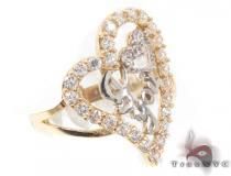 CZ 10k Gold I Love You Ring 33522 ゴールド レディース リング