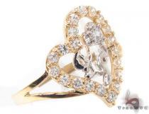 CZ 10k Gold I Love You Ring 33523 ゴールド レディース リング