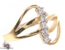 CZ 10k Gold Ring 33537 ゴールド レディース リング