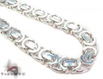 Byzantine Silver Chain 26 Inches, 11mm, 167.5 Grams Silver Chains