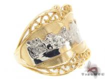 CZ 10K Gold Last Supper Ring 33564 Gold Ladies Rings