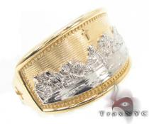 CZ 10K Gold Last Supper Ring 33565 Gold Ladies Rings