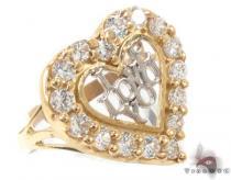 CZ 10K Gold I Love You Ring 33566 ゴールド レディース リング