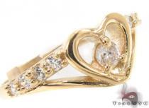 CZ 10K Gold Heart Ring 33579 ゴールド レディース リング