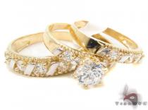 CZ 10K Gold Ring 33598 Gold Ladies Rings